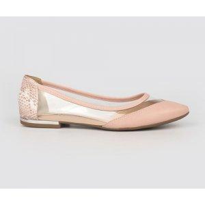Sapatilha Dakota  Bico Fino Transparencia Rosa