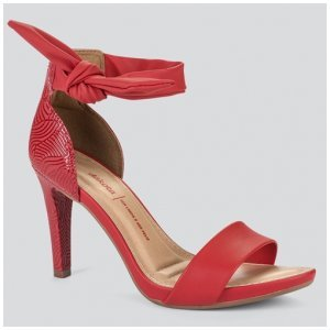 Sandália Dakota  Salto Alto Laço Vermelha