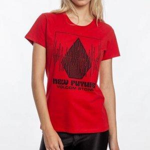 Camiseta Easy Babe Rad Feminino Volcom Vermelho - G