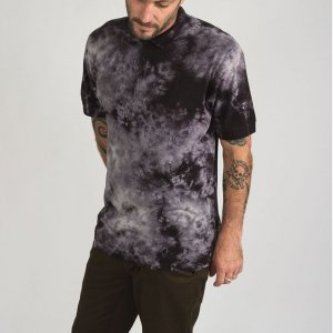 Polo Manga Curta Washed Up Verde Tie Dye - P