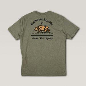 Camisa Manga Curta Silk Cali Bear Verde Militar Mescla - Gg2