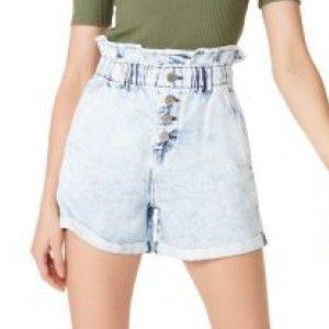 Shorts Jeans Com Detalhe De Elástico Na Cintura