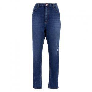 Calça Jeans Skinny Com Leves Rasgos