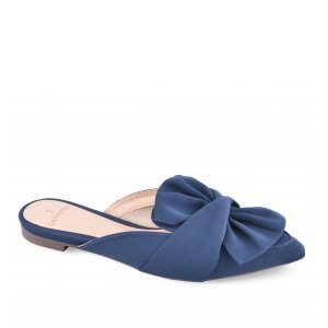Mule La Femme Laço Azul Marinho