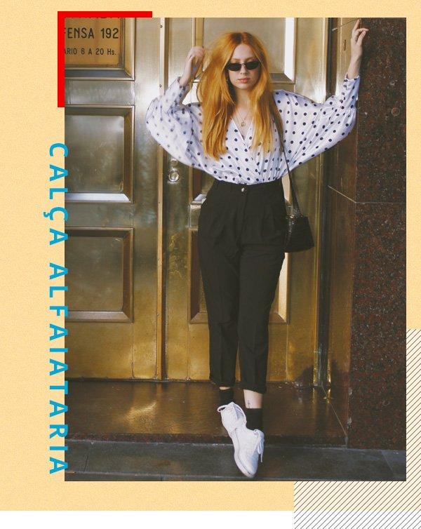 Ali Santos -      - calça alfaiataria - verão - street style