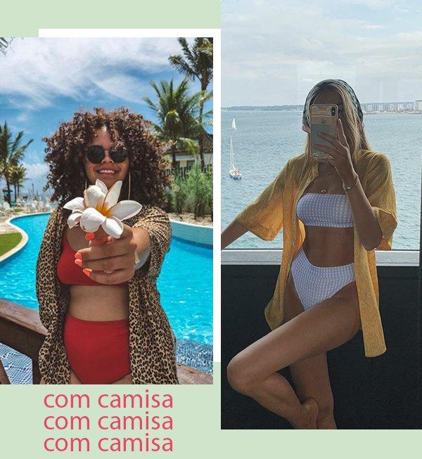 It girls - Biquini cintura alta  - Com camisa - Primavera - Street Style