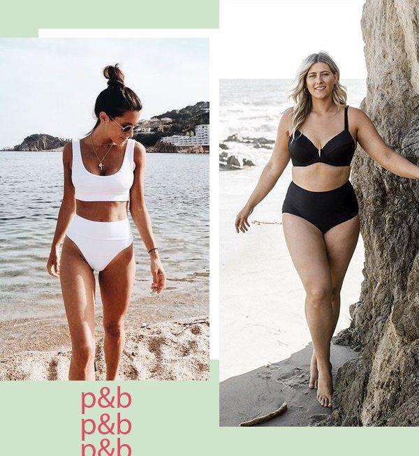 It girls - Beachwear - Preto e branco - Verão - Street Style