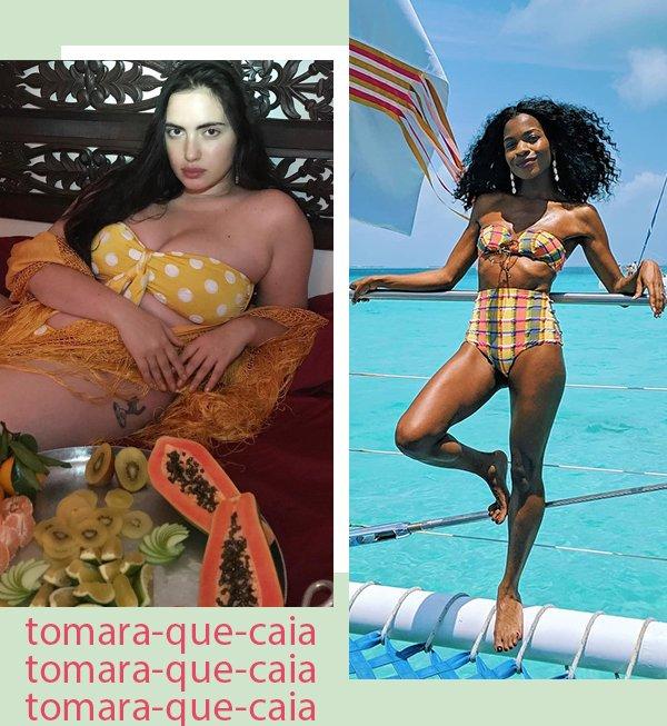It girls - Bíquini cintura alta - Tomara-que-caia - Primavera - Street Style