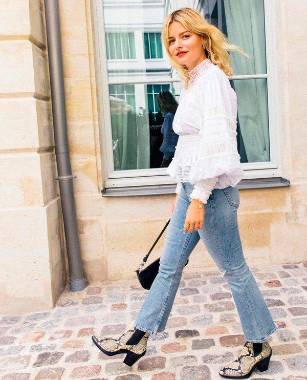 Sabina Socol - calça-flare - jeans - verão - street-style