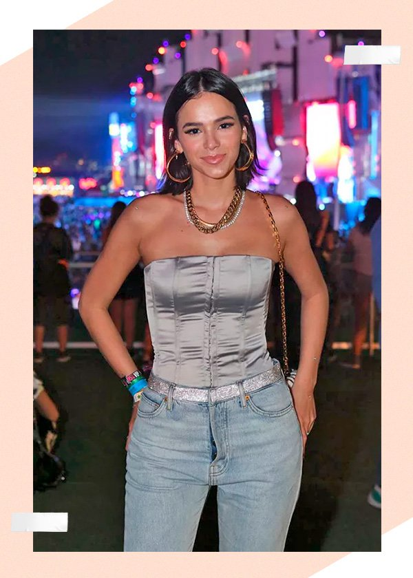 rock in rio - bruna marquezine - cinto - strass - 2019