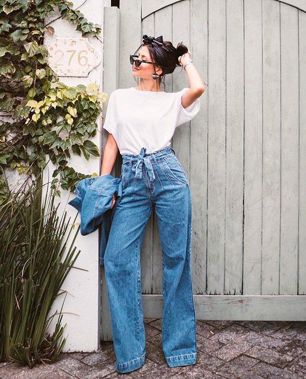 Viih Rocha - calça-flare - jeans - verão - street-style