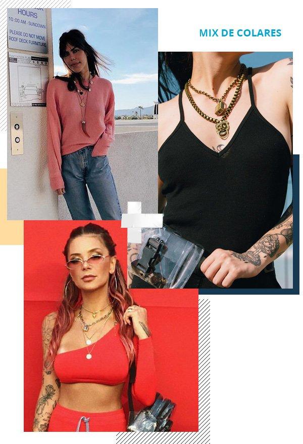 Catharina Dieterich, Rebecca Blanke, Bruna Huli -       - mix de colares - verão - street style