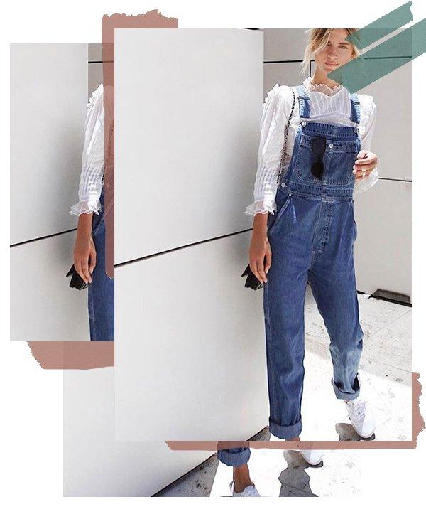 It girl - Jardineira - Camisa - Verão - Street Style