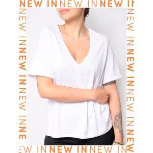 Camiseta Eco Gola V Branca - M Branco