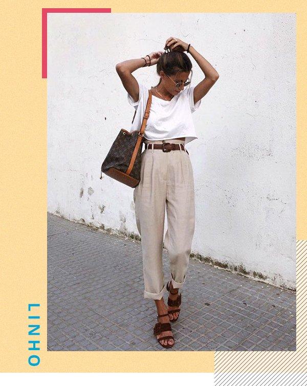 It girl - Calça - Linho - Primavera - Street Style
