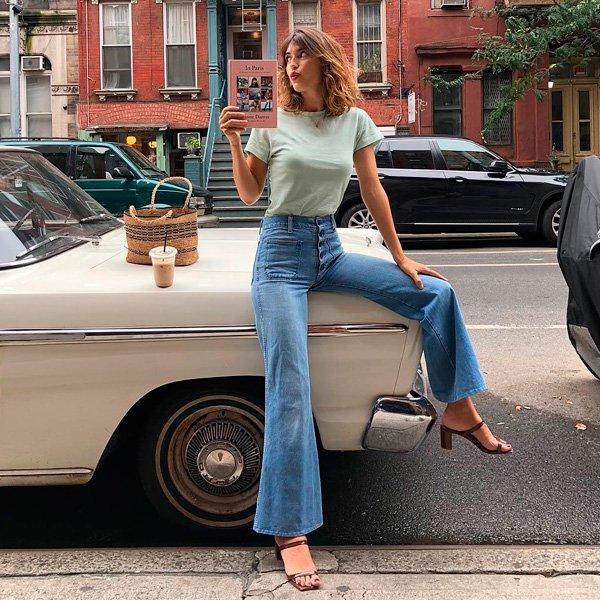 STEAL THE LOOK - 70s mood - Como usar calça flare jeans nesse verão