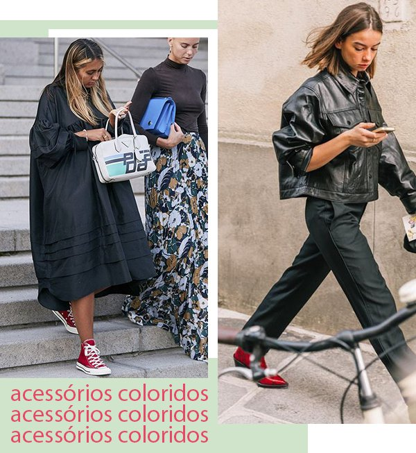 It girls - All black - Acessórios - Primavera - Street Style