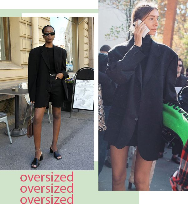 It girls - All black - Oversized - Primavera - Street Style