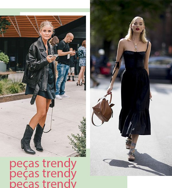 It girls - All black - Peças trendy - Primavera - Street Style