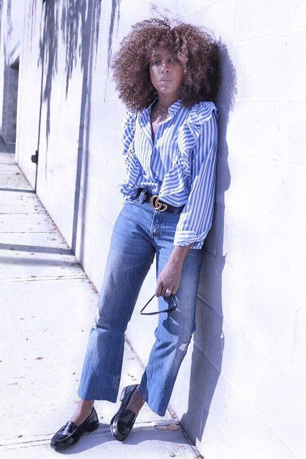 Karen Blanchard -      - babados - verão - street style