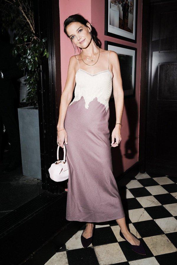 Katie Holmes - slipdress - slipdress - verão - street style