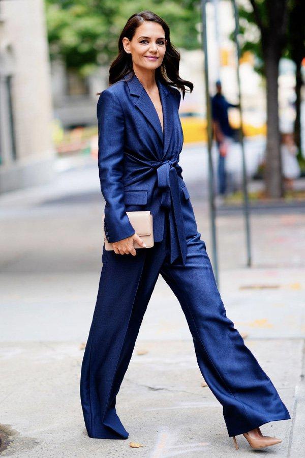 Katie Holmes - terninho azul - terninho - verão - street style