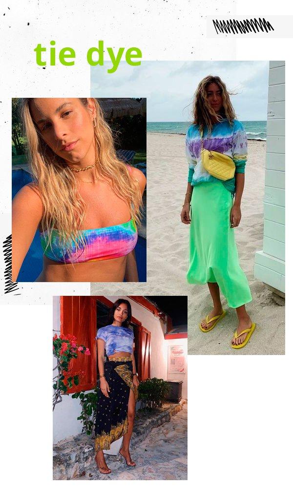 Shantal Verdelho, Emili Sindlev - tie-dye - tie-dye - verão - street-style