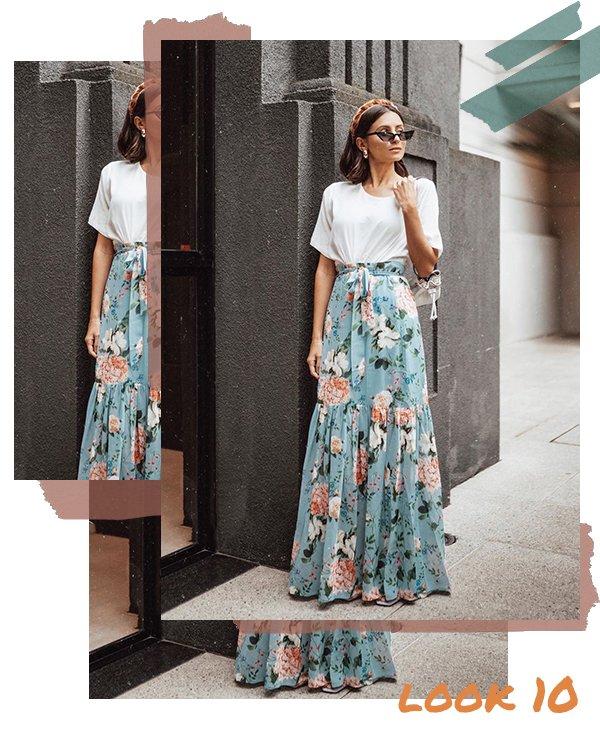 It girl - Saia longa - Fim de ano  - Verão - Street Style