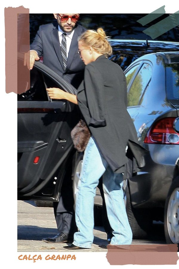 Mary-Kate Olsen -      - granpa jeans - verão - street style