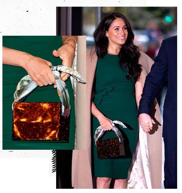 Meghan Markle - vestido-verde - bolsa - verão - street-style