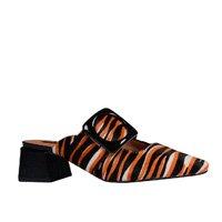 Mule em Couro Pelo Animal Print Tiger V20