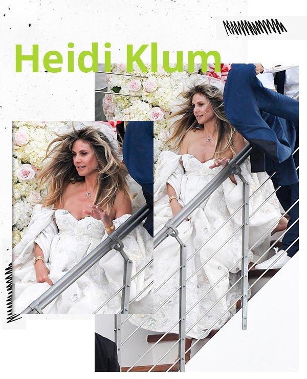 Heidi Klum - Vestido noiva - Noivas não convencionais - Primavera - Street Style
