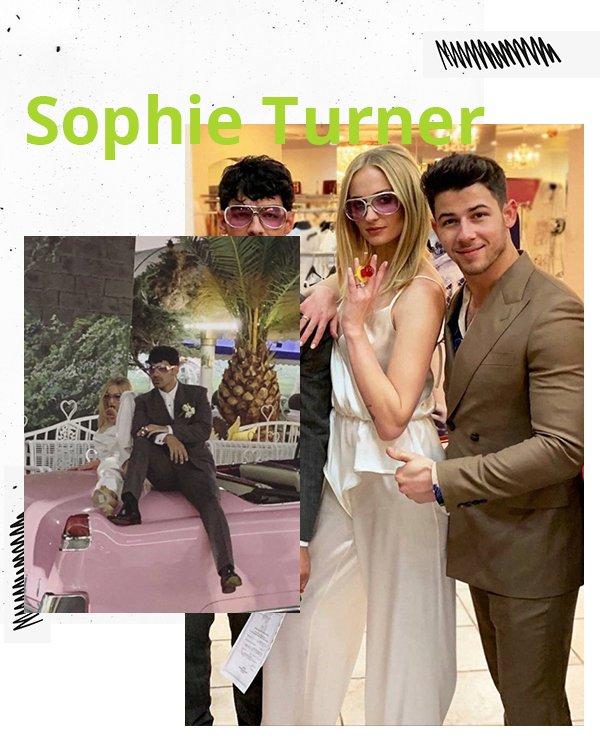 Sophie Turner - Vestido de noiva - Noivas não convencionais - Primavera - Street Style