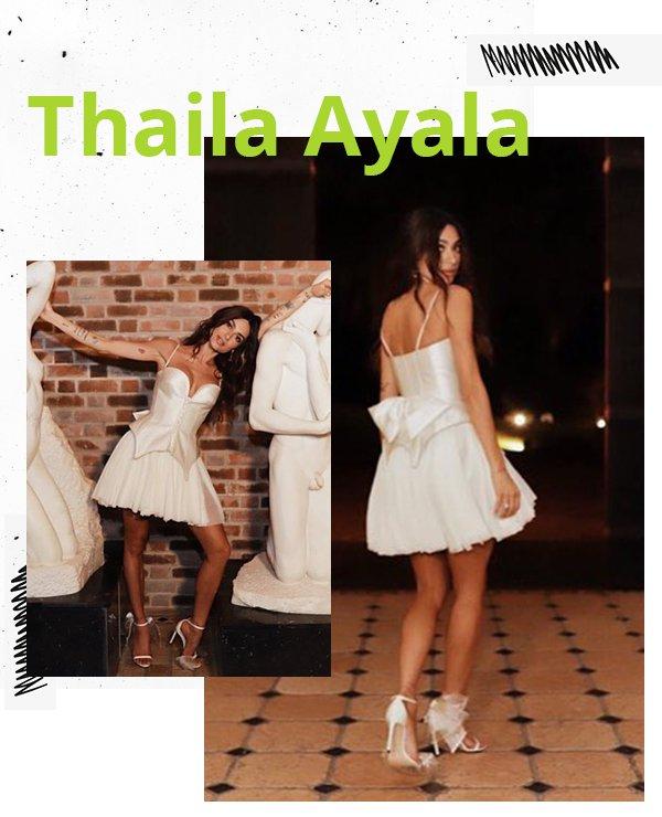 Thaila Ayala - Vestido de noiva - Noivas não convencionais - Primavera - Street Style