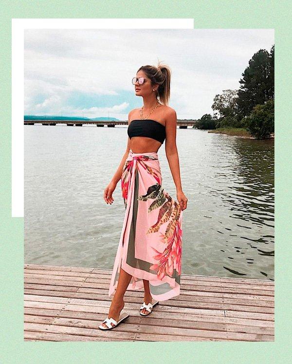 Thassia Naves - pareo - pareo - verão - street-style
