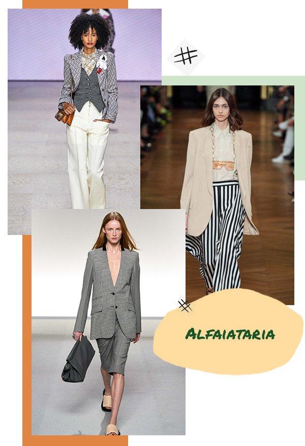 Modelos - Alfaiataria - Fashion Week - Primavera - Runaway