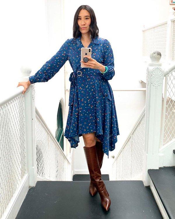 Eva Chen - vestido-e-bota - vestidos - verão - street-style