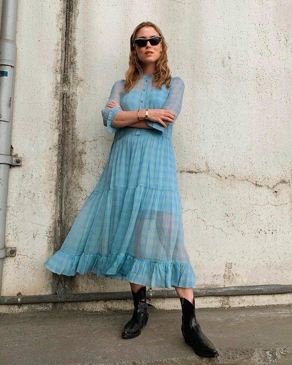 Annabel Rosendahl - vestido-e-bota - vestidos - verão - street-style
