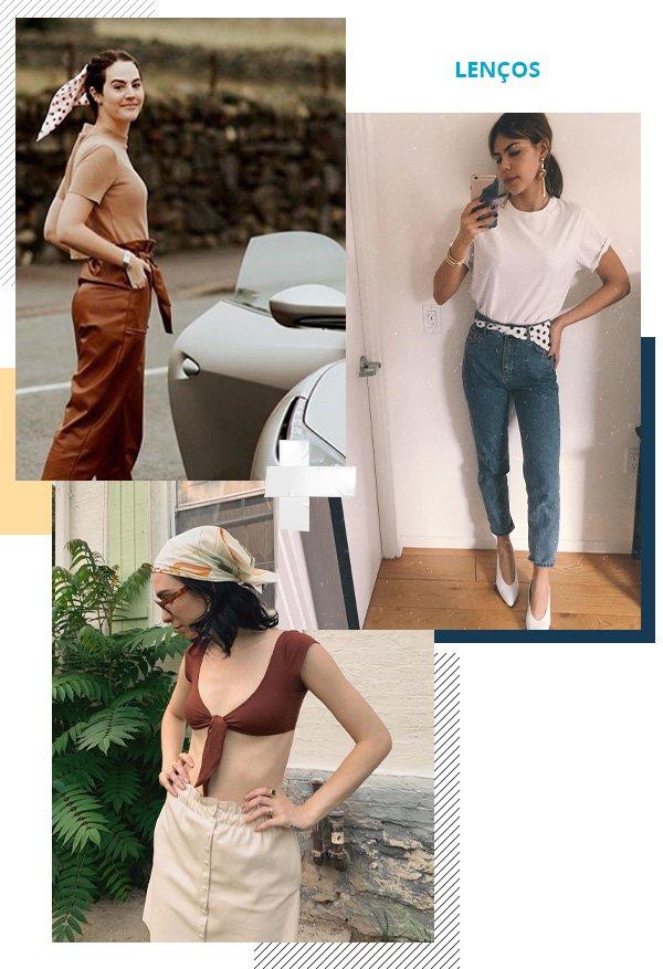 Vic Ceridono, Catharina Dieterich, Leandra Medine -      - lenços - verão - street style