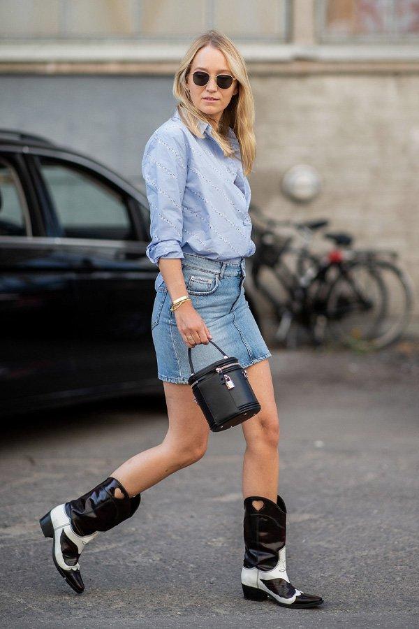 reprodução pinterest -       - western boots - verão - street style