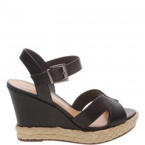 Sandã¡lia Schutz Anabela Leather Black | Outstore