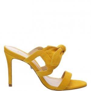 Sandã¡lia Schutz Mule Nobuck Laã§o Yellow | Outstore