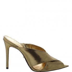 Mule Schutz High Straps Metallic | Outstore