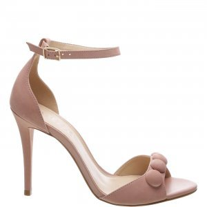 Sandália Arezzo Nobuck Button Rose Blush | Outstore