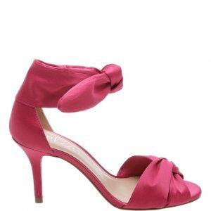 Sandália Arezzo Cetim Lace Up Lady Pink | Outstore