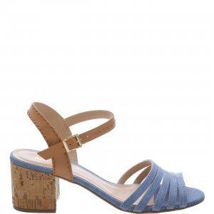Sandália Arezzo Tirinhas Jeans | Outstore
