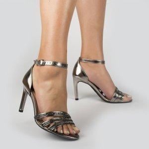 Sandália Dakota  Salto Fino Prata