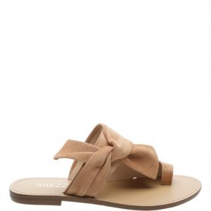 Rasteira Arezzo Suede Knoted Urban Nude Vintage | Outstore
