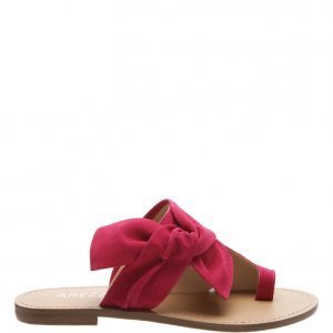 Rasteira Arezzo Suede Knoted Urban Lady Pink | Outstore
