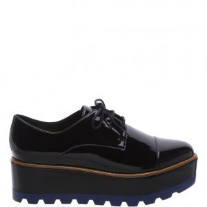 Oxford Arezzo Plataforma Preto Color Line Blue | Outstore